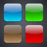 Square app template icons. Stock Image