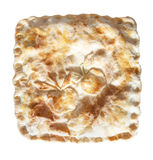 Square Apple Pie. A square apple pie with shaped apples on the crust Royalty Free Stock Images