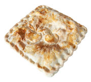 Square Apple Pie. A square apple pie with shaped apples on the crust Stock Photos