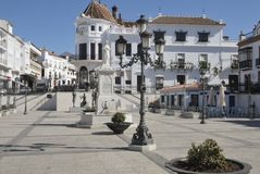 Square in Aracena. Square in the town of Aracena, a town of the province of Huelva, Andalusia, Spain Royalty Free Stock Images