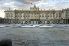 Square of the armoury, Royal palace of Madrid Royalty Free Stock Photography