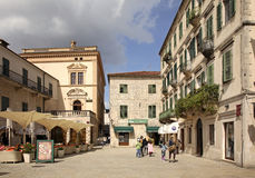 Square of Arms in Kotor. Montenegro Stock Photos