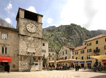 Square of Arms in Kotor. Montenegro Stock Photography