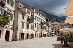 Square of arms in Kotor, Montenegro Stock Images