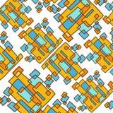 Square Art trend pattern Stock Photo