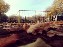 Square in autumn stock photo