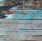 Square azure and brown wood plank wall texture Royalty Free Stock Image