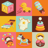 Square Baby Toys Royalty Free Stock Photography