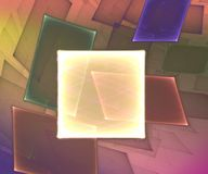 Square Background. Generated with fractals and gradients royalty free illustration