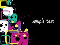 Square background with blots Stock Photos