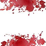 Square background of bright red abstract watercolor spots. The color splashing in the paper. It is a hand drawn. watercolor berry color print for clothes royalty free illustration
