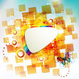 Square background and butterflies Stock Photo