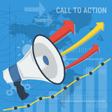 Square background call to action Stock Images