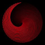 Square background in the form of a red spiral stock illustration