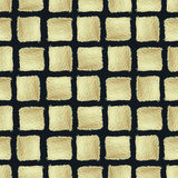Square background. Golden paint. Seamless pattern. Royalty Free Stock Photo