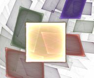 Square Background II. Generated with fractals. White background stock illustration
