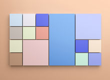 Square background Stock Images