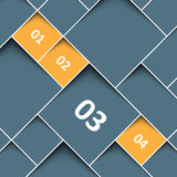 Square background with tabs Royalty Free Stock Images