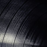 Square background texture of black vinyl record Royalty Free Stock Photo