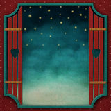 Square background with vintage frame 2. Royalty Free Stock Photos