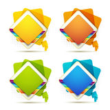 Square backgrounds Royalty Free Stock Image