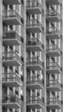 Square Balconies. In a high-rise building Stock Photography