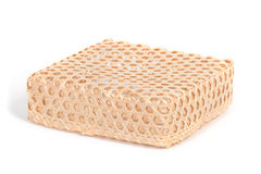 Square bamboo wicker basket Royalty Free Stock Photography