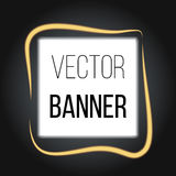 Square Banner with Blur Effects on dark background. Vector for your artwork Stock Photography