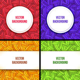 Square banner design templates set with frame Stock Image
