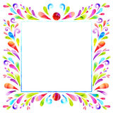 Square banner. Square frame composed of floral elements royalty free illustration