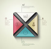 Square banner infographics Stock Photos