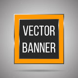 Square  banner white metal frame on a light background. Vector Royalty Free Stock Image
