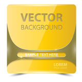 Square banner yellow horizontal color strip metal.  Stock Illustration