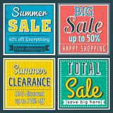 Square banners with sale offer, vector. Illustration vector illustration