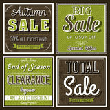 Square banners with sale offer, vector Stock Images
