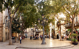 Square in Barcelona Royalty Free Stock Photography