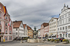 Square with baroque architecture in Eichstatt royalty free stock photography