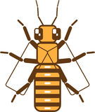 Square Bee. Illustration clip-art vector Royalty Free Stock Photography
