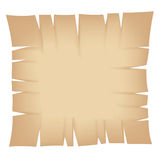 Square Beige Torn Banner Stock Photography