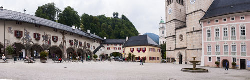 Square in Berchtesgaden Royalty Free Stock Photography