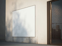 Square billboard on the wall. 3d rendering Stock Photo