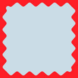Square with billowy edges. Distorted, deformed square frame, bor Royalty Free Stock Photos