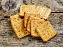 Square biscuit cracker Royalty Free Stock Photography