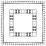 Square black frames, geometric pattern. Stock Photography