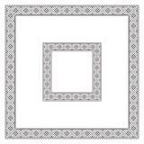Square black frames, geometric pattern. Different sizes Stock Photos