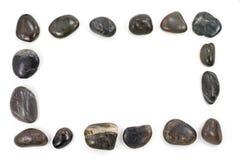 Square black pebbles frame Royalty Free Stock Photo