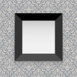 Square black photo frame Stock Images