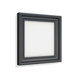 Square black picture frame on white background. 3d rendering Royalty Free Stock Photography