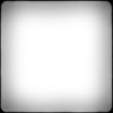 Square black and white film frame with vignetting royalty free stock image