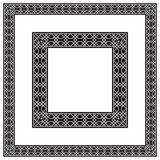 Square black and white frames, geometric pattern. Different sizes Royalty Free Stock Photos
